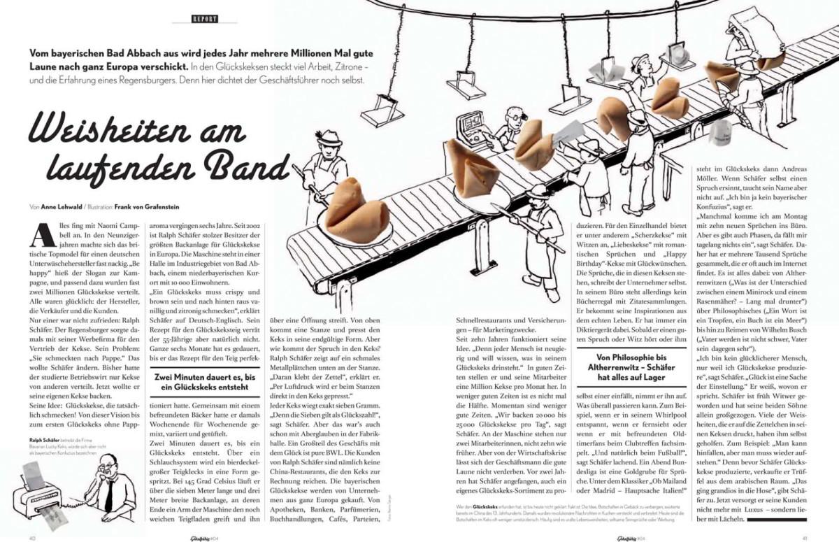 Weisheiten Am Laufenden Band Lucky Keks Gluckskekse Aus Bayern